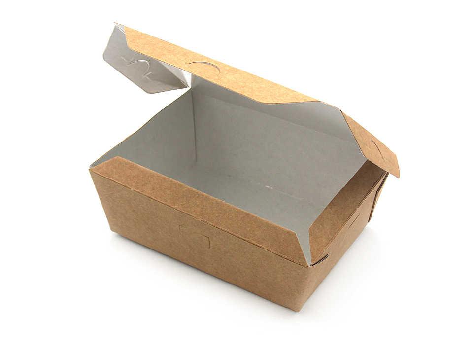 Бумажный контейнер быстросборный, крафт