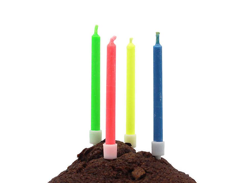 Свечки разноцветные с цветным пламенем 6 см, горят 7 минут