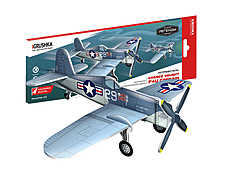 ChanceVought F4U Corsair - представитель серии «Воздушные легенды», историческая модель-копия палубного истребителя военно-воздушных сил США времён Второй мировой войны. Конструктор: Рекс Бейсел. Масштаб 1:55.  Все детали 3D конструктора легко вынимаются из карточек и соединяются между собой.  Внутри вы найдёте набор эксклюзивных наклеек, которые превратят модель в копию реальной боевой машины.  Модель можно подвесить на тонкой леске за специально предусмотренное отверстие.