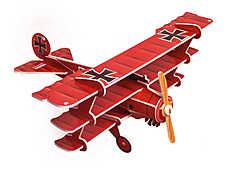 Историческая модель-копия самолёта. Все детали 3D конструктора легко вынимаются из карточек и соединяются между собой.  Внутри вы найдёте набор эксклюзивных наклеек, которые превратят модель в копию реальной боевой машины.
